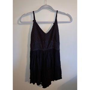Abercrombie & Fitch Black Shorts Romper